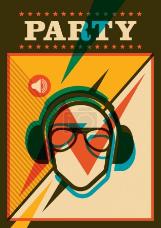 Retro party poster.