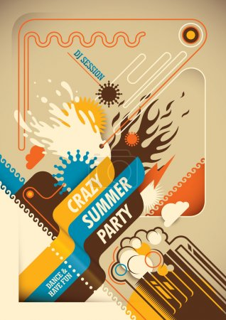 Abstract summer poster.