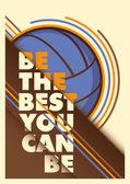 Návrh plakátu reklamy volejbal