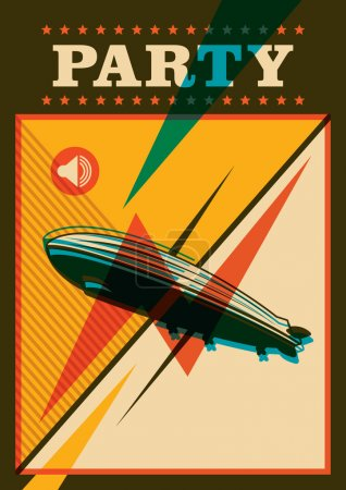Party poster with zeppelin