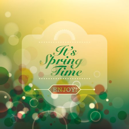 Illustration for Abstract spring time background. Vector illustration. - Royalty Free Image