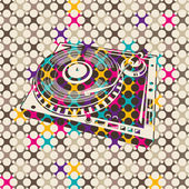 Colorful background with turntable