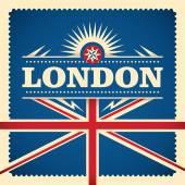 London sticker design with flag