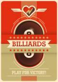 Billiards poster design Vector illustration