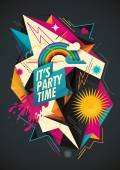 Colorful party background with abstraction Vector illustration