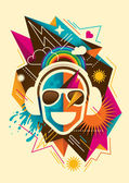 Party background with abstraction Vector illustration