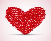 Valentines composition of the hearts Vector illustration