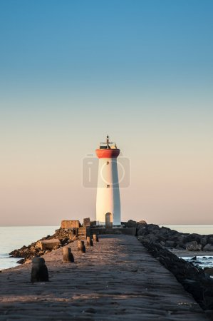 Lighthouse at dawn, Tamarissiere, Herault, France