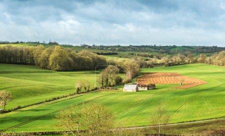 Picturesque view of little farm