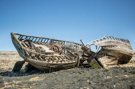 Wooden Framework of shipwrecks