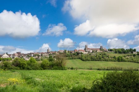 Panoramic view of Vezelay