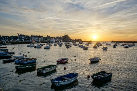 Picturesque view of Barfleur at sunrise