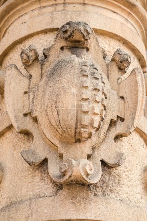 Detail of carvings on the gothic Cathedral