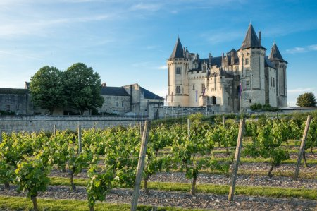Saumur castle in the Loire Valley