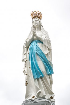 Statue of the Madonna in Lourdes