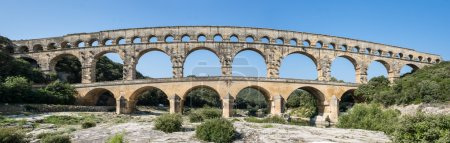 Pont du Gard in the morning