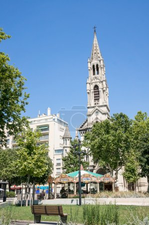 Park in the city center of Nimes