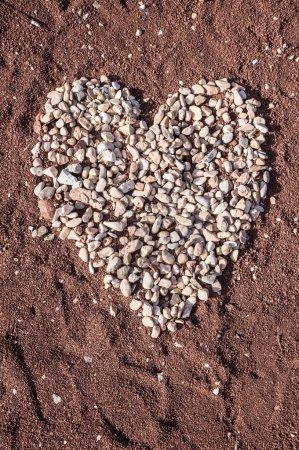 Heart of Pebble stones