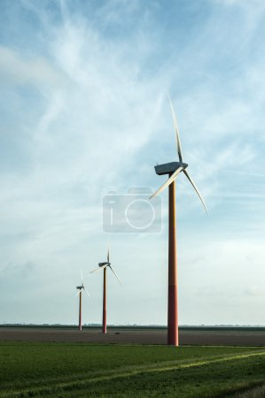 Windturbines producing clean energy