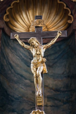 Golden Statue of Jesus Christ