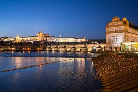 Night time illuminations of Prague Castle
