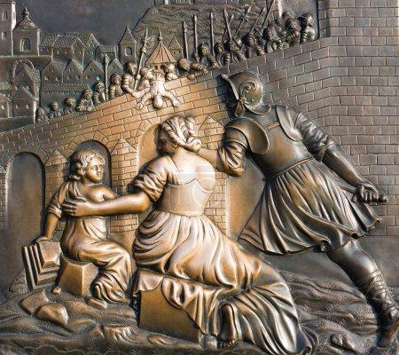 Sculpture on the Charles Bridge