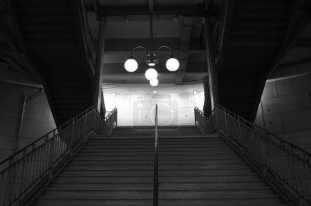 Parisian subway station staircase