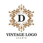 Vintage vector logo for restaurant