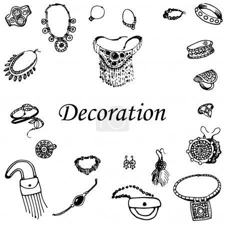 Vector illustration of a variety of decorations