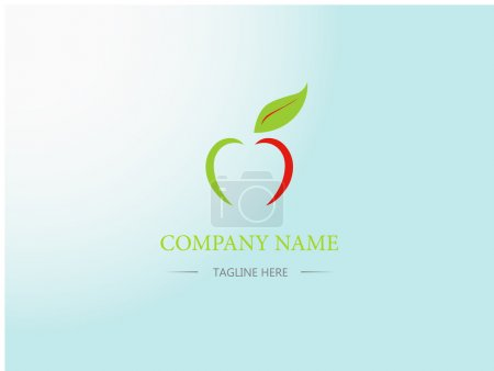 Apple icon design. Business logo. Sign, symbol. Cartoon, flat style.