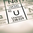 Постер, плакат: Focus on radioactive Uranium chemical element