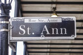 Street sign of St Ann Street at French Quarter