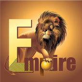 Empire lion king of beasta vector