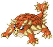 Cute Pixel Art Ankylosaurus Anime Dinosaur