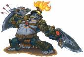 Gorilla Warrior Fantasy Vector Illustration Clip Art