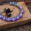 Постер, плакат: Hoop from flowers wreath with colored flowers Handmade flowers