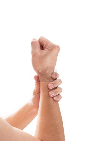 Man wrist pain.