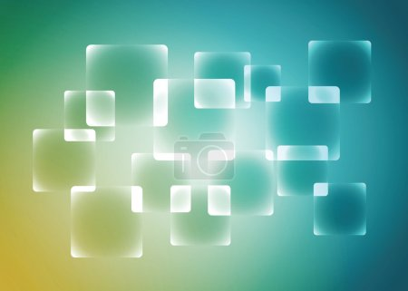 Rounded rectangle abstract background, vector, illustration.