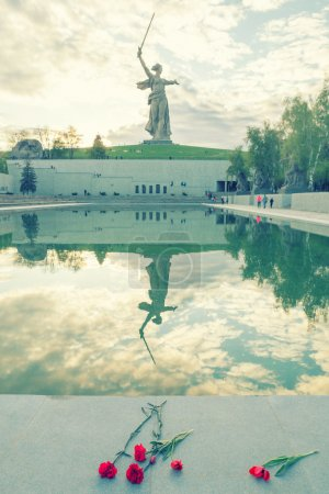 The Motherland Calls monument with