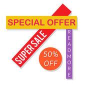 Super prodej papíru nápis. 50 % sleva