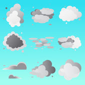 Set of clouds collection Weathe icon for design Vector illustration