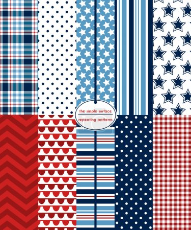 July 4th, Red, White & Blue Scrapbook Paper