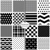 Seamless Patterns, Background Patterns, Black  White, Bow Ties