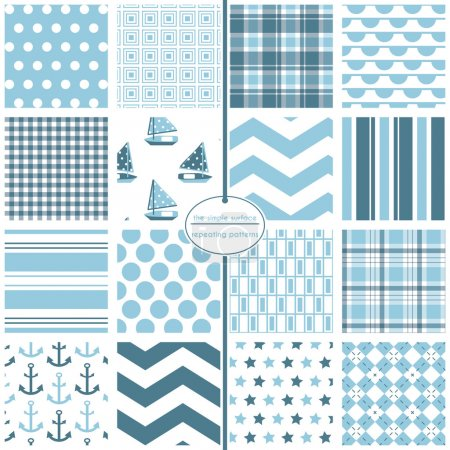 Nautical Scrapbook Paper, Baby Blue