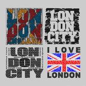 set T-shirt  London design fashion typography