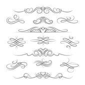 Vintage calligraphic ornate decoration elements