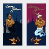 Set of oriental tale banners