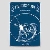 Fishing club brochure flyer template