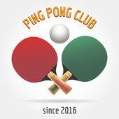 Table tennis retro logo