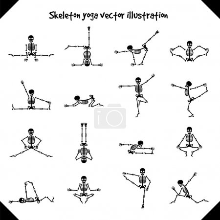 Skeletons in yoga poses